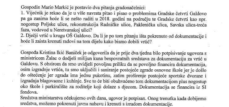 Zapisnik sa sjednice Gradskog vijeća od 08. lipnja 2018.